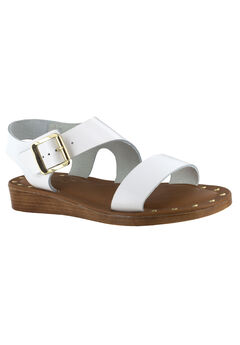 Luc-Italy Sandals by Bella Vita®, WHITE LEATHER, hi-res