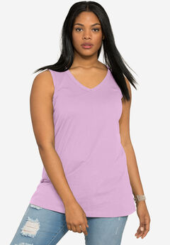 Ultimate V-Neck Tank, ORCHID PINK, hi-res