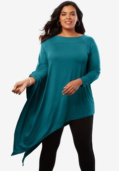Asymmetric Drape Ultra Tunic,