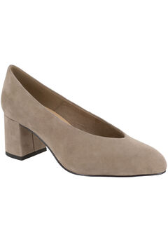 Jensen Pumps by Bella Vita®, ALMOND SUEDE