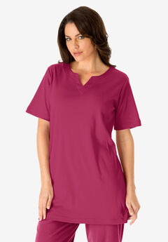 Notch Neck Tunic, VERY BERRY