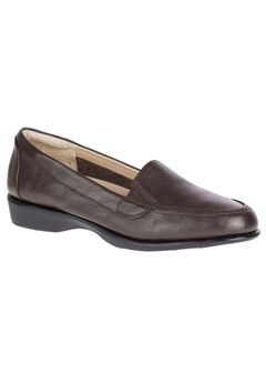 Jennah Paradise Slip-Ons by Hush Puppies®, DARK BROWN LEATHER, hi-res