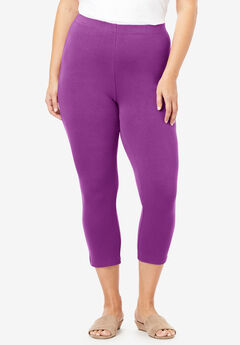 Essential Stretch Capri Legging, PURPLE MAGENTA