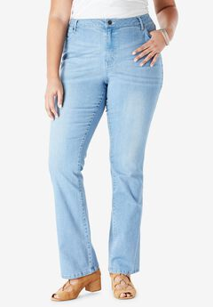 Bootcut Jean with Invisible Stretch® by Denim 24/7®, LIGHT WASH