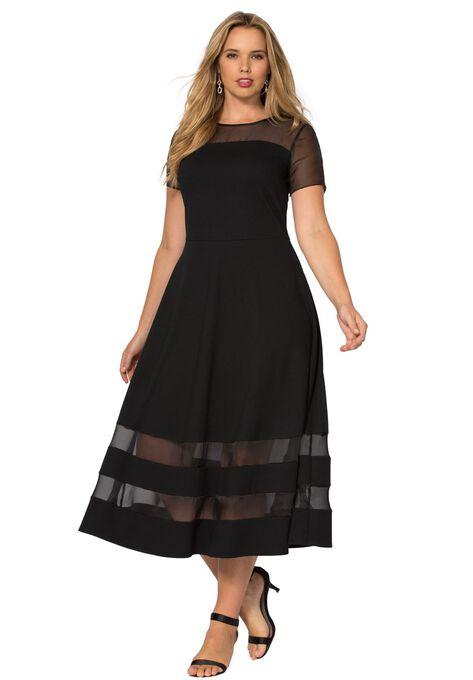 Organza Trim Dress | Plus Size Cocktail Dresses | Roaman\'s