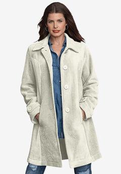 Plush Fleece Jacket, IVORY