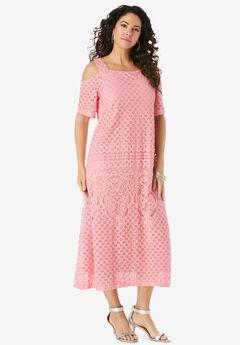Cold-Shoulder Lace Dress,