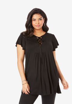 Lace-Up Ultra Femme Tunic,