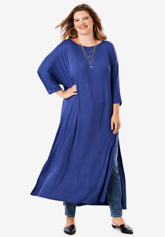 Side-Slit Ultra Tunic, ULTRA BLUE