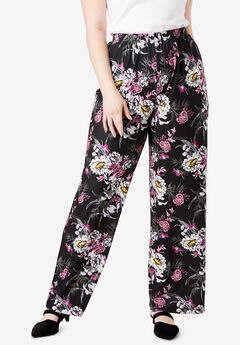 Wide-Leg Pant, PEONY FLORAL