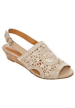 Vana Sandals by Comfortview®, NATURAL CROCHET, hi-res
