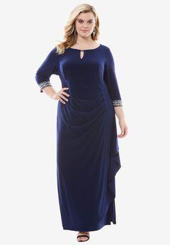 Keyhole A-line Dress by Alex Evenings,