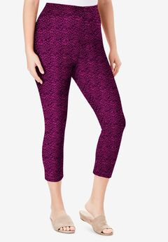 Essential Stretch Capri Legging, BERRY ANIMAL