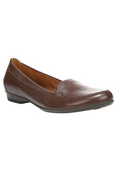 Saban Leather Slip-Ons by Naturalizer®, BRIDAL BROWN, hi-res