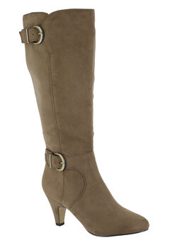 Toni II Wide Calf Boots by Bella Vita®, FAWN SUPER SUEDE, hi-res