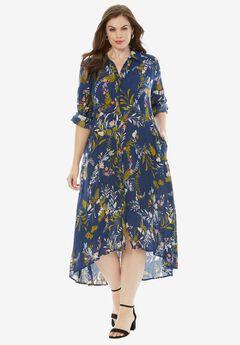 High-Low Crinkle Dress,