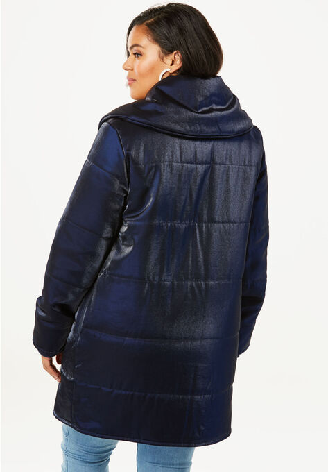 f2b76203d39 Shawl Collar Puffer Coat