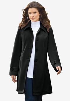Plush Fleece Jacket, BLACK