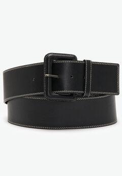Topstitched Belt,