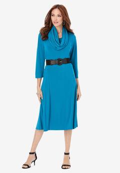 Ultrasmooth® Fabric Infinity Scarf Dress,