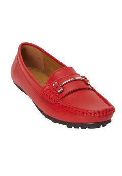 The Virginia Moccasin by Comfortview®, RED, hi-res