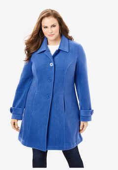 Plush Fleece Jacket, TRUE BLUE