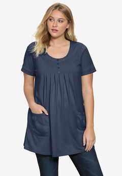 Two-Pocket Swing Tunic, NAVY