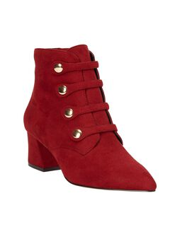 The Leilani Bootie by Comfortview®, CRIMSON, hi-res