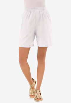 Soft Knit Short, WHITE