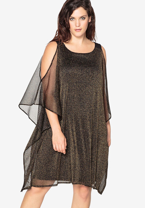 Sheath Evening Dress with Sheer Layer by Castaluna| Plus ...