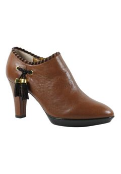 Paquita Booties by J. Renee®, LUGGAGE CHOCOLATE, hi-res