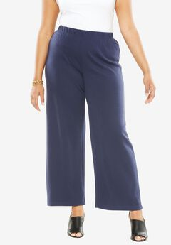Soft Knit Wide Leg Pant,