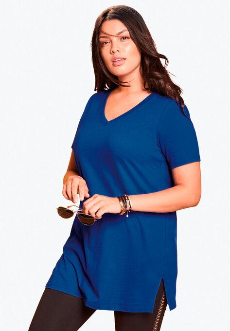 f97618d5193 V-Neck Maxi Tunic| Plus Size Tunics | Roaman's