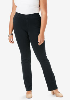 Bootcut No-Gap Jean by Denim 24/7®, BLACK