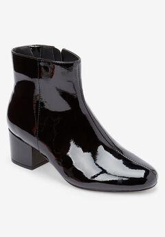 The Sidney Bootie by Comfortview®, BLACK PATENT