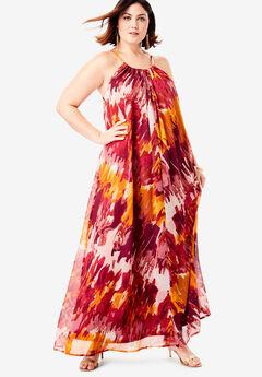Swing Maxi Dress in Crinkle,