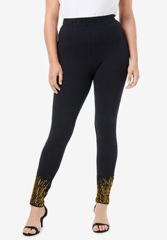 Sequin-Hem Legging,
