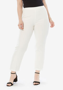 Ankle-Length Bend Over® Pant, WHITE
