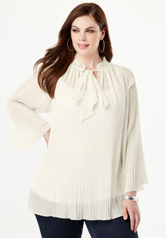 Bell Sleeve Bow Blouse, IVORY