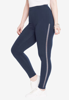 Crochet Legging, NAVY