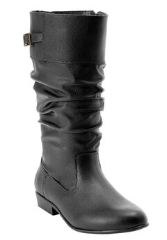 Monica Wide Calf Boots by Comfortview, BLACK, hi-res