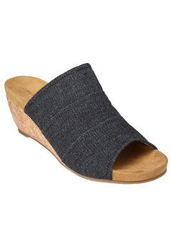 Nicoletta Sandals by Comfortview®, BLACK, hi-res