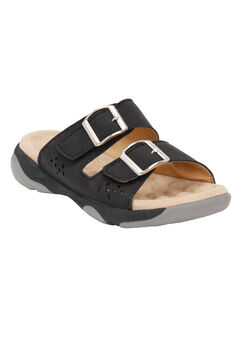 Samira Trek Sandal by Comfortview, BLACK, hi-res
