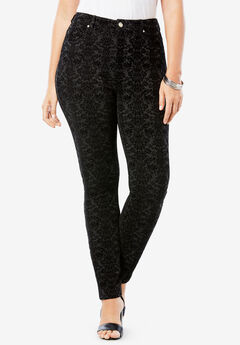 Flocked Ultimate Ponte Pant, DARK HEATHER CHARCOAL