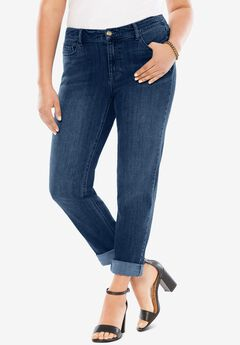 Boyfriend Jean with Invisible Stretch®, MEDIUM WASH