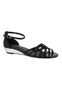 Tarrah Sandals by Easy Street®, BLACK GLITTER, hi-res