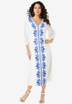 Embroidered Long Dress,