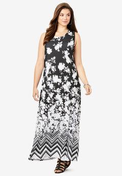 Print Maxi Dress,