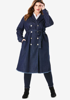 Denim Trench Coat,