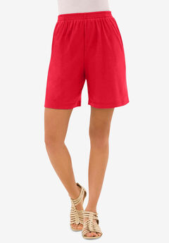 Soft Knit Short, VIVID RED